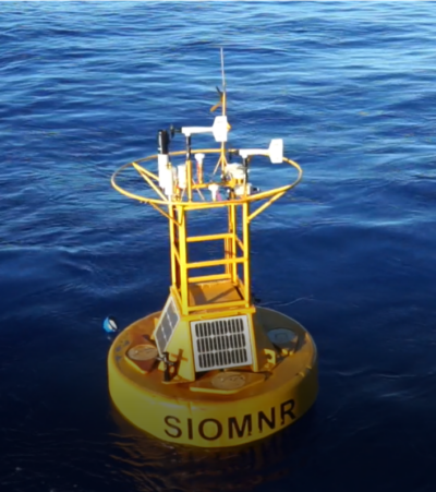 The fourth buoy are experimental with a different structure (17N, 156E) in Ding array.